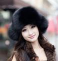 11 colores de piel falsa sombreros de invierno para mujeres adelante ruso gorro de piel con el oído bombardero sombreros Cap el tiempo de la aventura caliente para la muchacha CP093 lindo