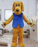 Gorący bubla dorosłych puppy pies maskotki kostium maskotki kostium dla dorosłych