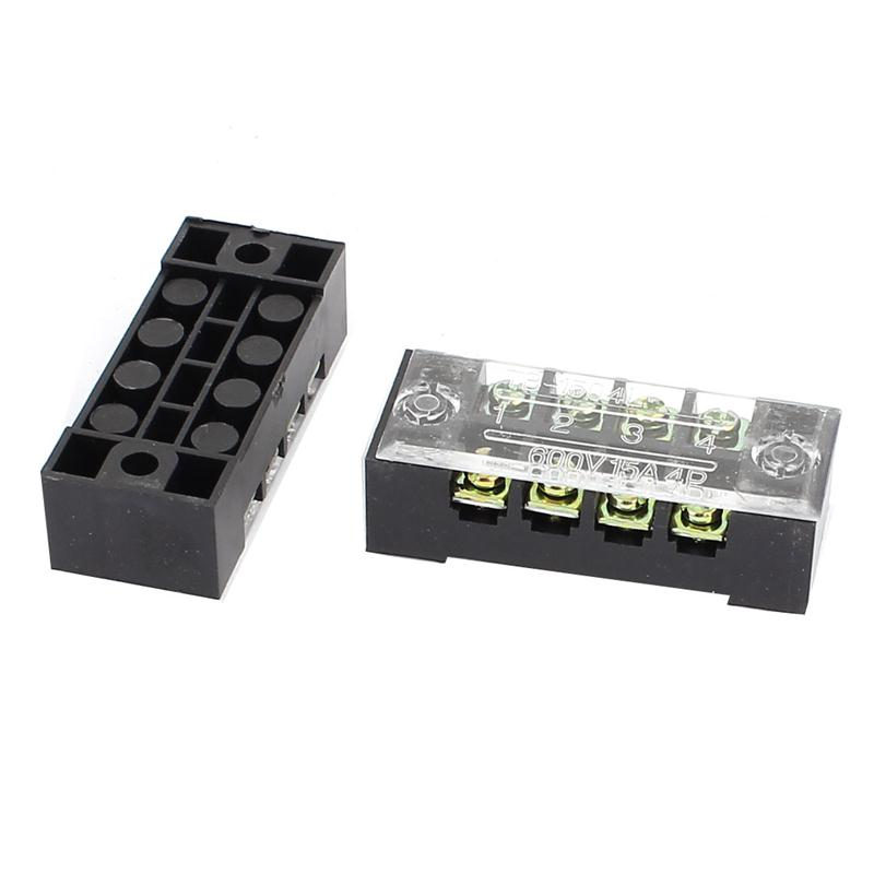 20pcs  Lot Screw Terminal Blocks 2 Rows 4 Position Screw