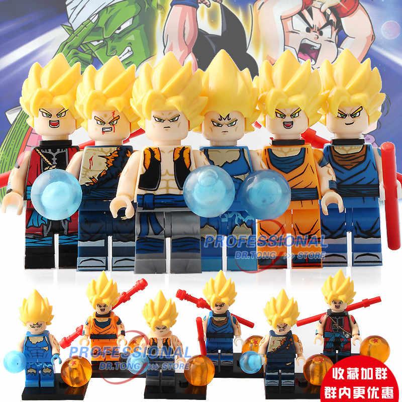 8 Ultar Instic pçs/lote Super Heróis Figuras De Dragon Ball Z Goku Vegeta Android 16 Blocos de Construção DIY Brinquedos Para Crianças Presente XP021-026