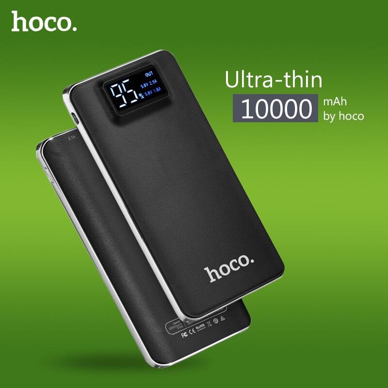 imágenes para HOCO de Gran Capacidad 10000 mAh Práctico Banco de Potencia ultra-delgada Powerbank Móvil Cargador Universal Con la Linterna LED Para Xiaomi