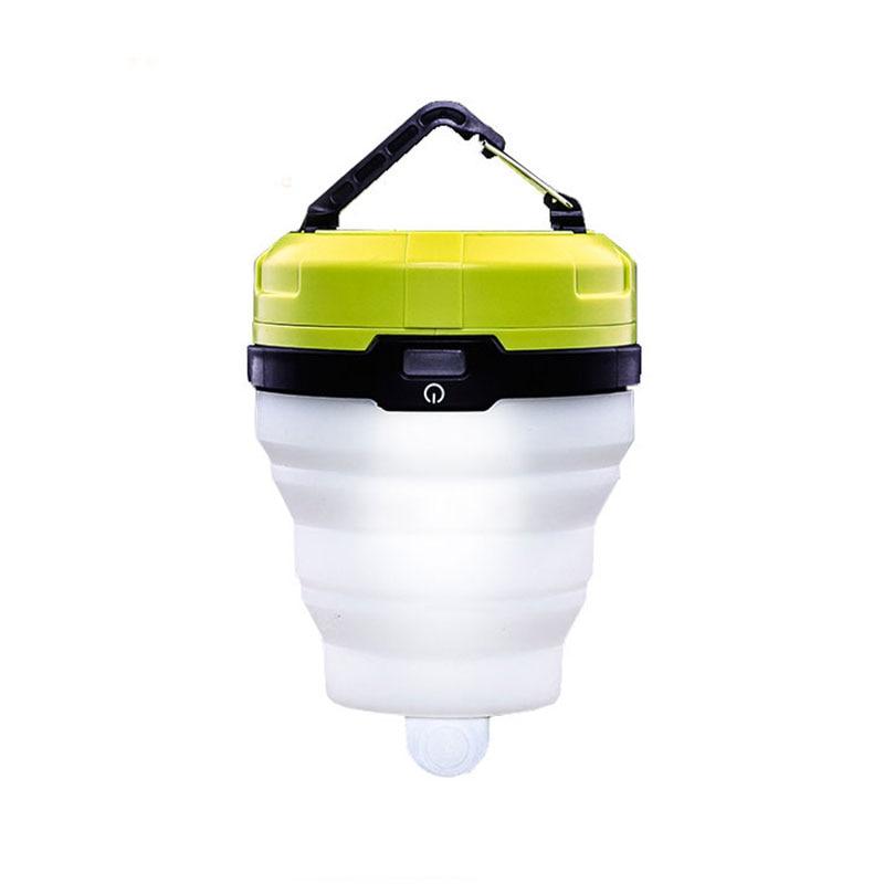 2 pcs/lot mini LED Lamp Fold Portable Lanterns Silica gel Camping lamp