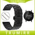 22mm Stainless Steel Watch Band Quick Release Strap for Moto 360 2 46mm Samsung Gear 2 R380 R381 R382 Wrist Belt Link Bracelet