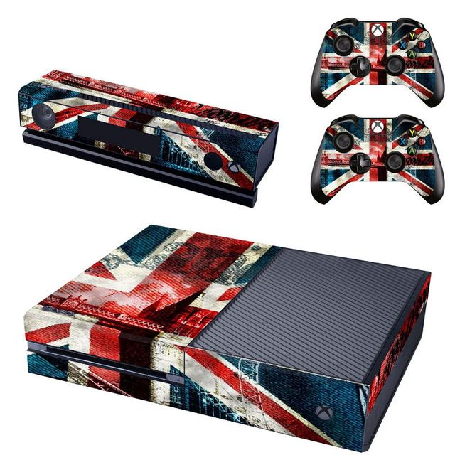 Uk flag sticker decal skin for xbox one console stickers for Decoration xbox one