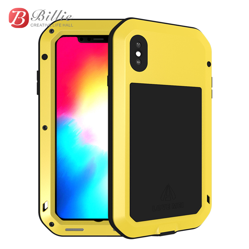LOVE MEI Metal Waterproof Case For Apple iPhone XSMax Shockproof Cover XS Max 6.5 inch Aluminum phone case