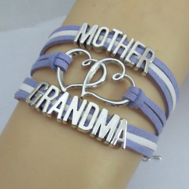 Drop Shipping Infinity Mother And Grandma Bracelets Best S Love For Bangles Charm Weomen Jewelry