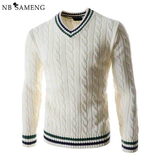 2017 New Fashion Winter Pullover Men Knitted Slim Sweater ...