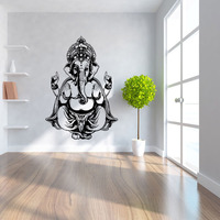 Creative 57*82cm Carved Ganesh God Yoga Mandala Living Room Wall Decal Sticker Poster Interior Home Decoration Accessories Mural
