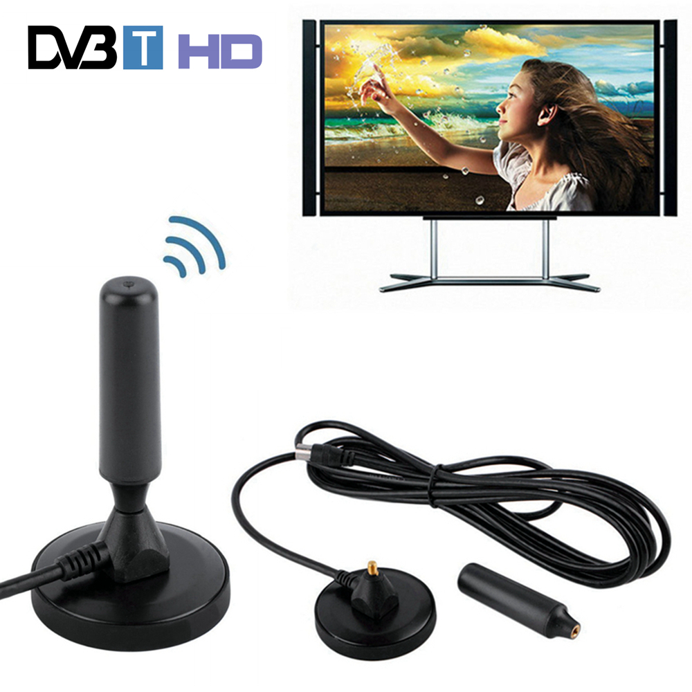30 dBi Gain 75 ohm Digitale DVB-T Ontvanger Antenne FM Freeview Antenne Antena DVB T Coaxiale Booster Kabel Magnetische Base TV HDTV