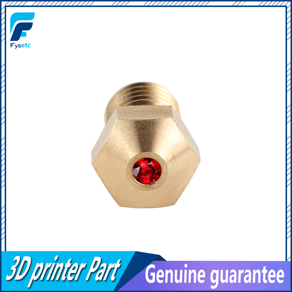 Bocal compatível do rubi de peek do animal de estimação do abs de petg do bocal v6 1.75mm do rubi de alta temperatura e3d 0.4mm para prusa i3 mk3/lulzbot