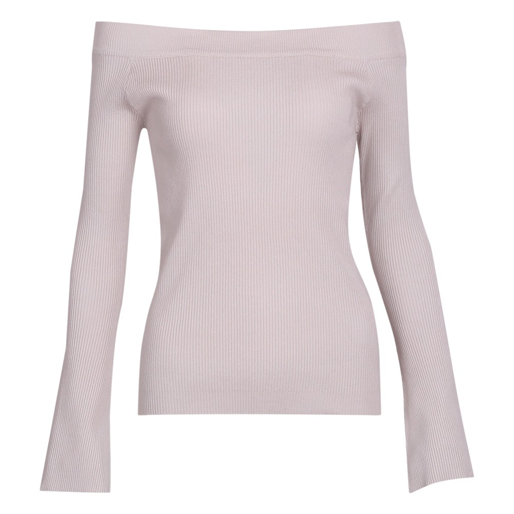 SharVell Women Slash neck Backless Slim Sexy Sweater Fashion Flare Sleeve Pullover Sweaters Knitted Spring Solid Inside Sweaters in Pullovers from Women 39 s Clothing