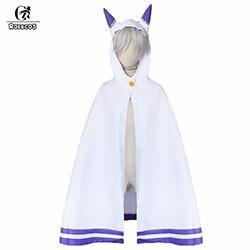 Re-Zero-kara-Hajimeru-Isekai-Seikatsu-Emilia-Cosplay-Costume-Cat-Ear-Cloak-Cape-New-Free-Shipping
