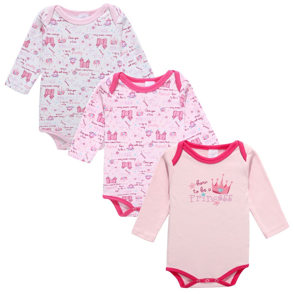 Fairy Baby Baby kid infant Girls Pink Princess Crown Long Sleeve Bodysuit 3pcs cottonFairy Baby Baby kid infant Girls Pink Princess Crown Long Sleeve Bodysuit 3pcs cotton