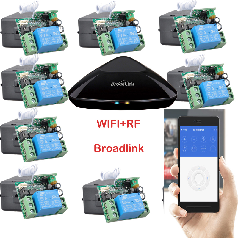 Broadlink RM Pro + 12 Receptor, iphone/android WIFI + RF, DC12V 1 Canales Inalám
