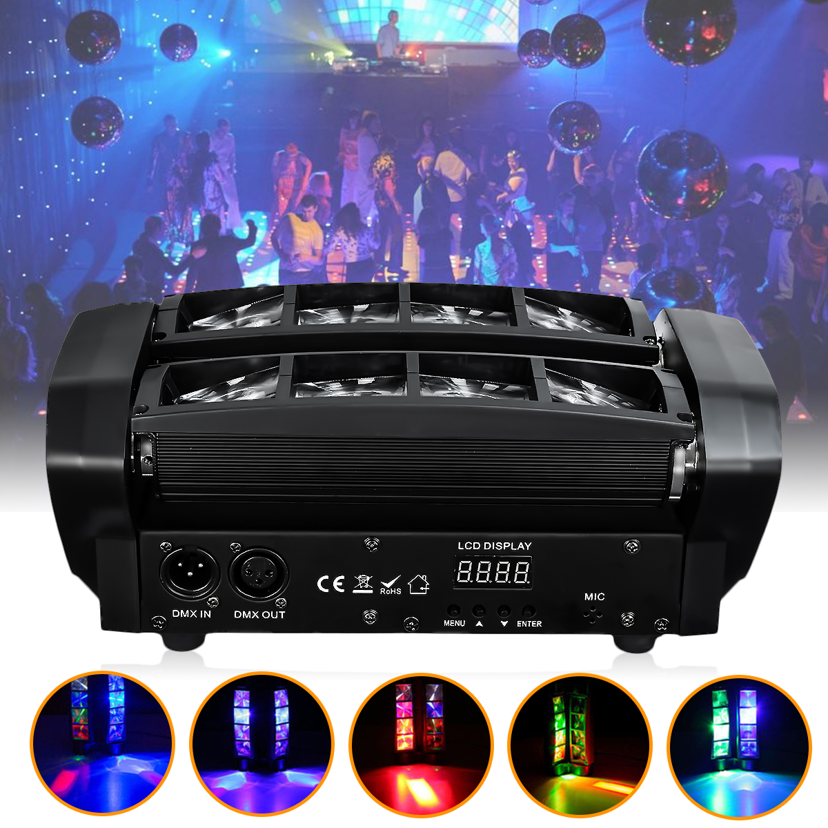 100W RGBW Christmas LED S pider Beam DMX Stage Light Disco DJ Party Lighting Lamp : 91lifestyle