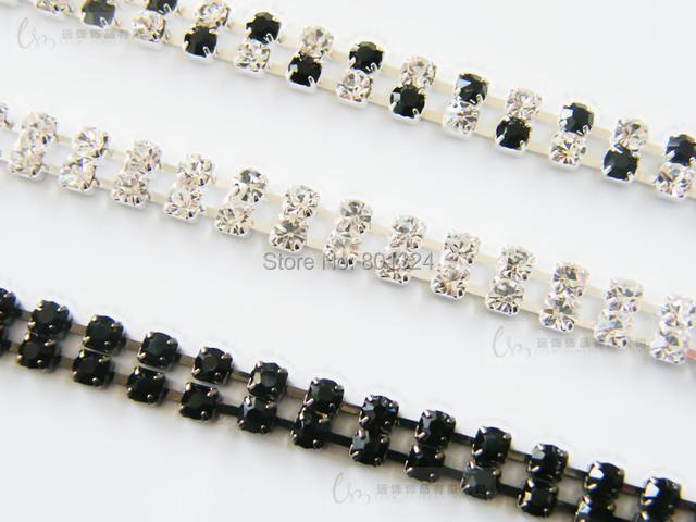Transparent Clear 2 Rows Crystal Gorgeous Prom Diamante Rhinestone Bra Straps Belt Newest party underwear women bra strap