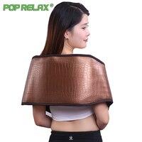 Pop Relax Electric Slimming Massage Belt Tourmaline Waist Treat Lumbar Disc Herniationelectrial Germanium Heating Stone Belt