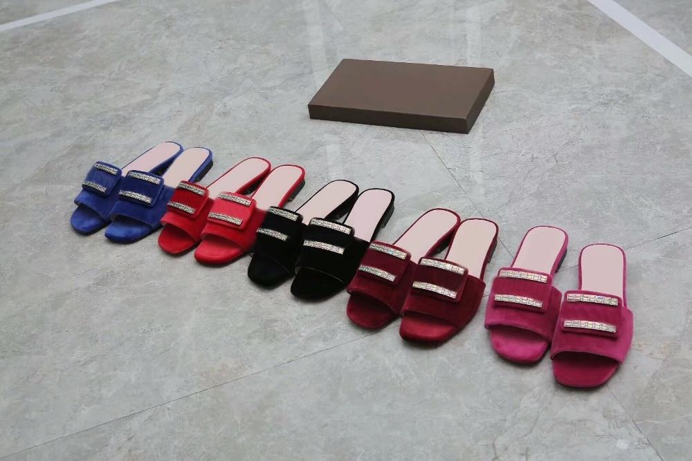 Dhl Envío De Cuero borgoña Sandalias rojo azul Mocasines Zapatillas señoras Mujeres púrpura Clásico Genuino Negro aa5xwrSpq