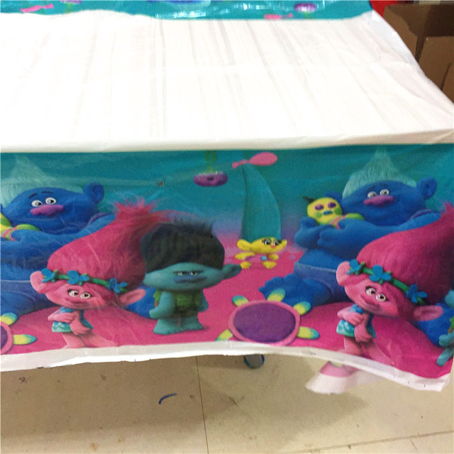 Charmant 1PCS Disposable Table Cloth Cartoon Trolls Theme Table Cover Paw Tablecloth  Kids Boy Birthday Party Map