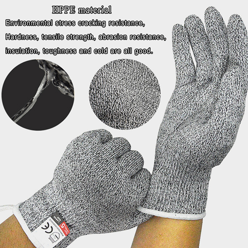 ZOHAN 1 Pair Cut Resistant Anti cut Safety Anti Heat Antistatic Work Gloves Protect Steel Wire Cut Metal Mesh Butcher Gloves in Safety Gloves from Security Protection