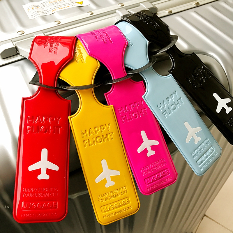 Travel Accessories Luggage Tag Cover Creative PU Leather Suitcase ID Address Holder Baggage Portable Label Girl Boarding Tags