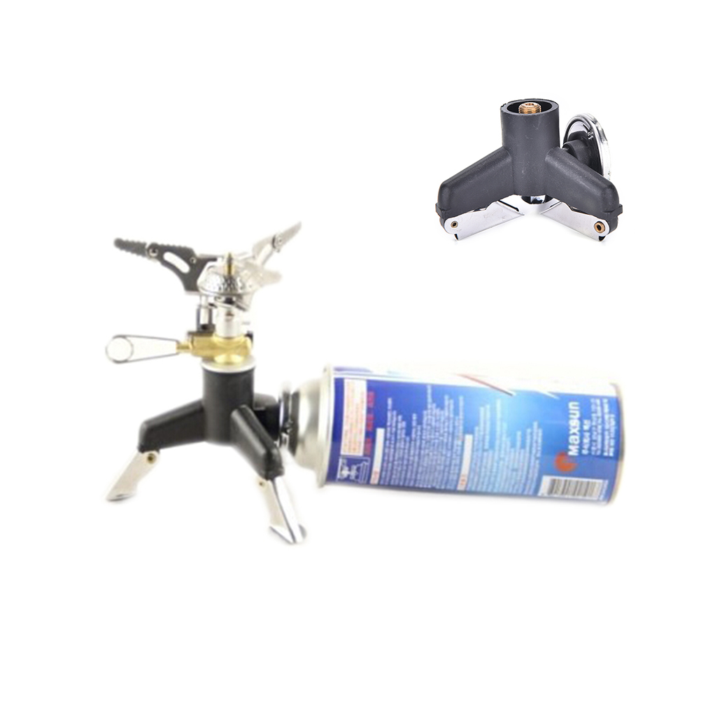 Sports & Entertainment Campcookingsupplies Outdoor Tripod Gas Stove Connector Ultralight Copper Tank Stand Adapter Three Legs Gas Tank Adapter Outdoor Stove