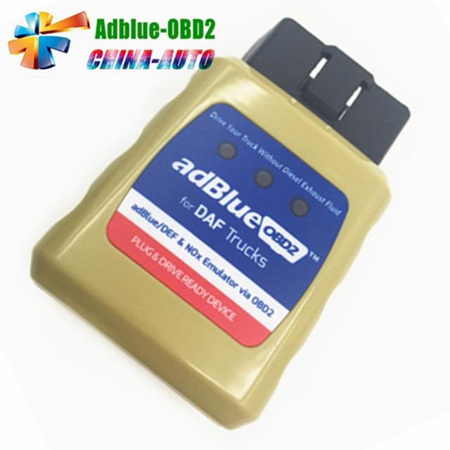 5pcs/lot DHL Free Truck AdblueOBD2 Emulator Via OBD2 For M---AN DAF IVECO Ben-z V0-lvo SCANlA F0-RD OBD2 Adblue Code Reader