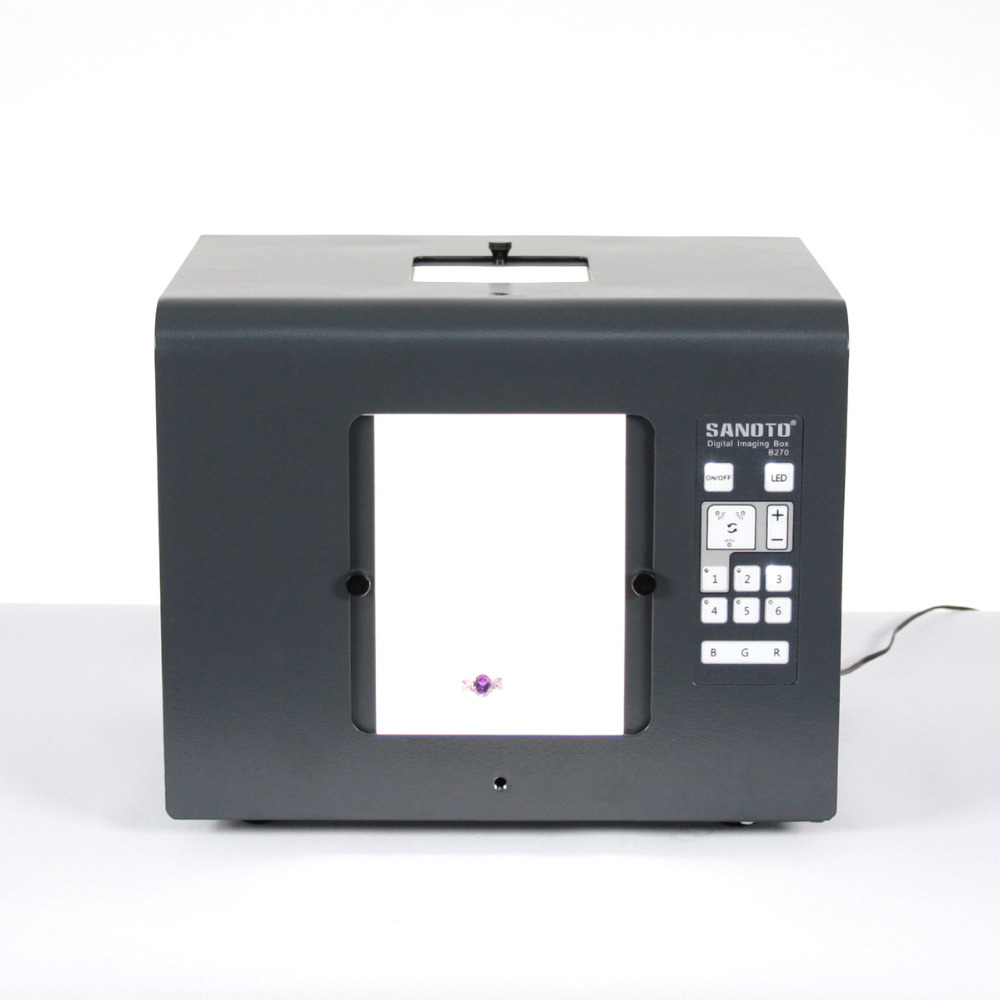 Free Shipping SANOTO LED Mini Photo Studio Photography Light Box Photo Box Softbox B270 Jewelry ,diamonds lighting boxes