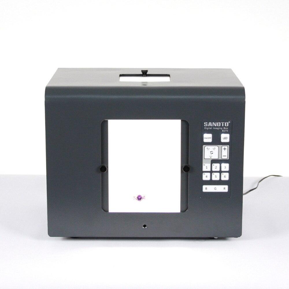 Sanoto frete grátis LED Mini Photo Studio fotografia Light Box Photo Box Softbox B270 jóias, Diamantes caixas de iluminação