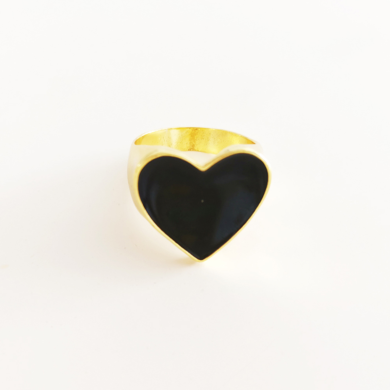 19 New Arrivals Must Have Vintage Gold Color Red Heart Rings For Women Minimalist Party Knuckle Rings Size 7 7