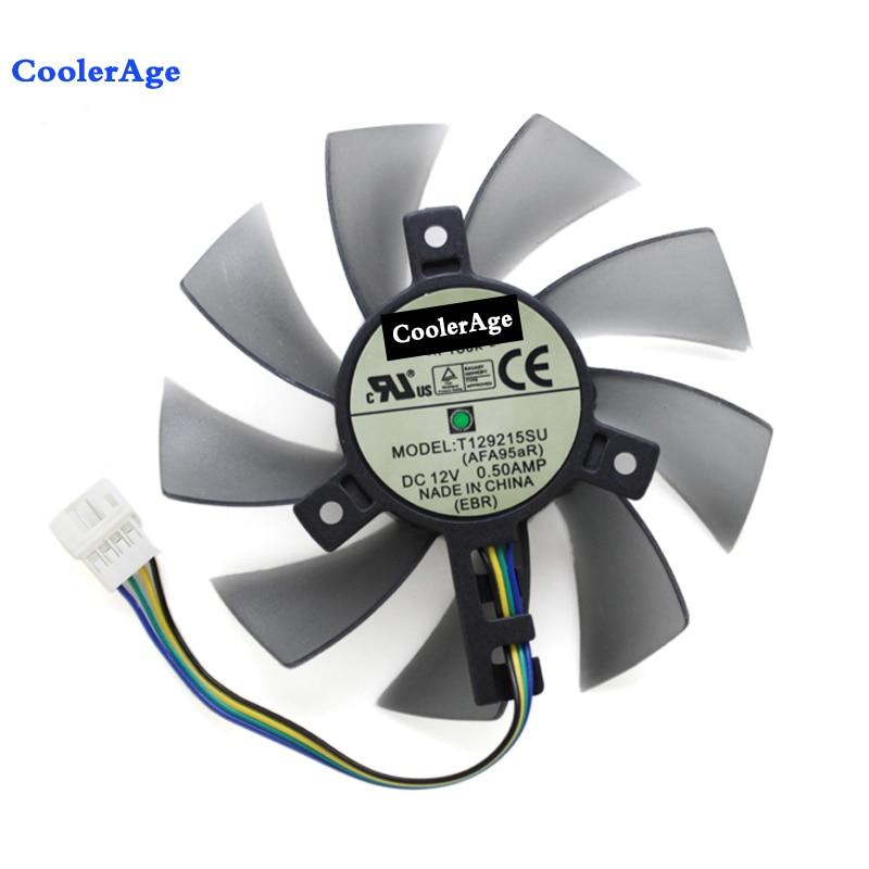 85 MM T129215SU Fan De Resfriamento Para Gigabyte GeForce GTX 1050 Ti RX 480 470 570 580 Placa Gráfica GTX 1060 G1 refrigerador