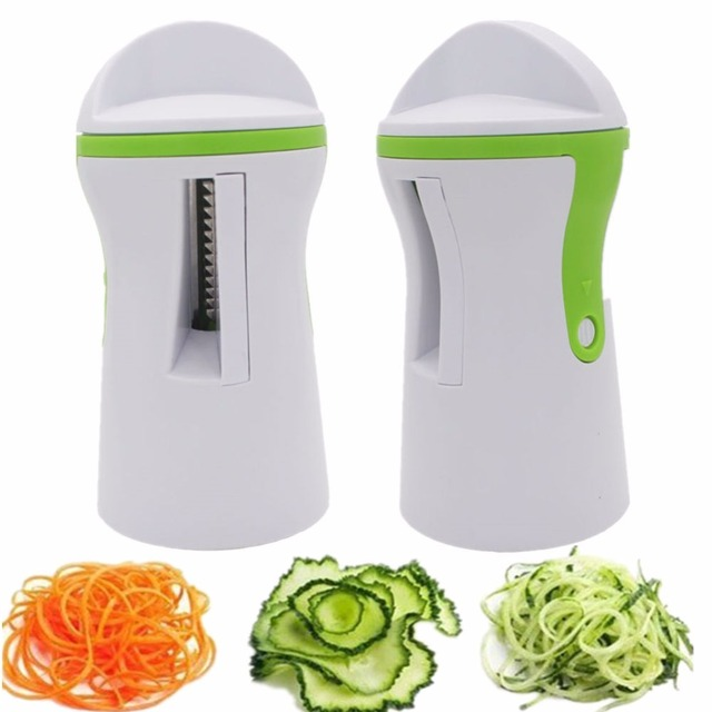 1PC Blades Vegetable Spiralizer Slicer Twister Handheld Spiral Cutter Fruit Grater Cooking Tools Spaghetti Pasta Kitchen Gadget 2