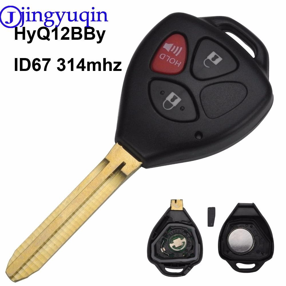 jingyuqin 3 Buttons ASK 314mhz HyQ12BBY With Chip ID67 Remote Key Case Cover For Toyota RAV4 Yaris Venza Scion tC/xA/xB/xCjingyuqin 3 Buttons ASK 314mhz HyQ12BBY With Chip ID67 Remote Key Case Cover For Toyota RAV4 Yaris Venza Scion tC/xA/xB/xC