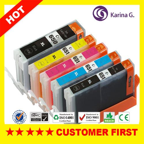 5X Generic Ink Cartridge za PGI-650 CLI-651 XL Set za tintne pisače Canon Pixma MG5500 Series