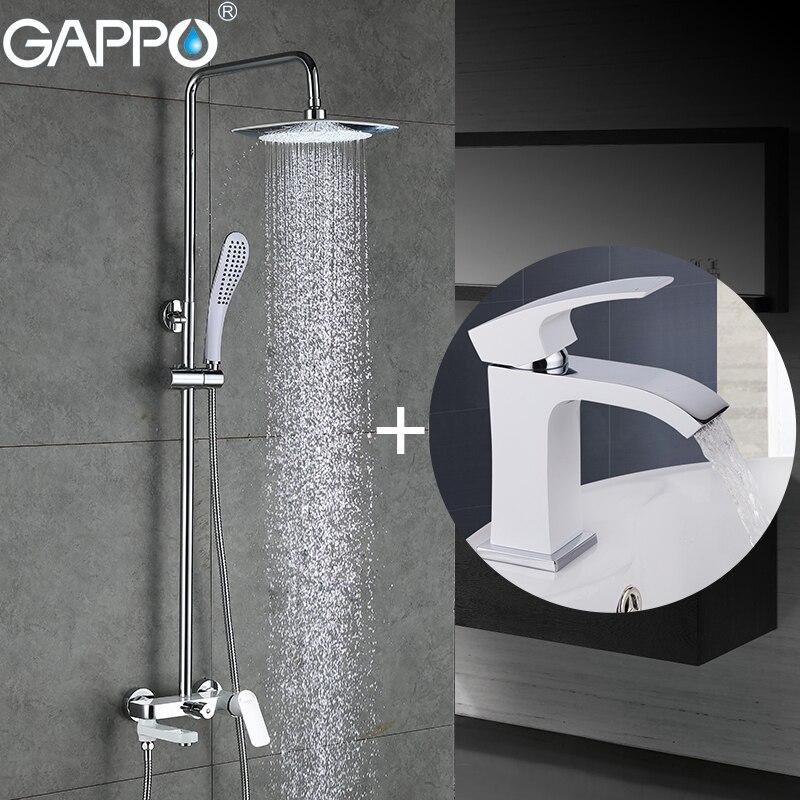 GAPPO branco banheira Torneiras banheira misturador torneira da bacia da cachoeira torneira da pia bacia torneira robinet baignoire