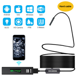 Wireless Endoscope Camera Semi-Rigid Wireless Endoscope 1200P 2.0 MP HD Snake Camera With 8 LED for Android and iOS Endoscope