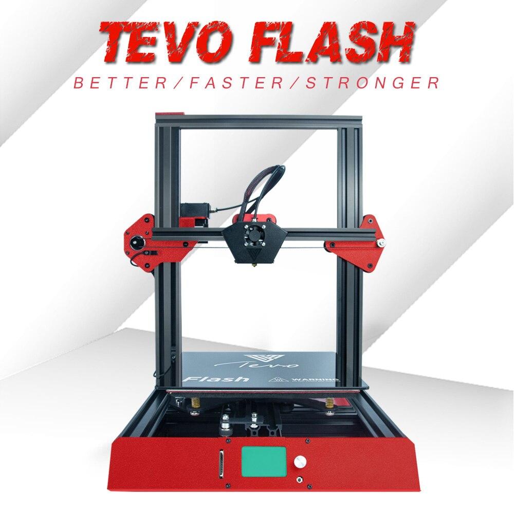 Più nuovo TEVO Flash 3D kit Stampante stampante 3d di stampa Completamente Telaio In Alluminio Macchina da Stampa Stabile e Veloce con Titan Estrusore