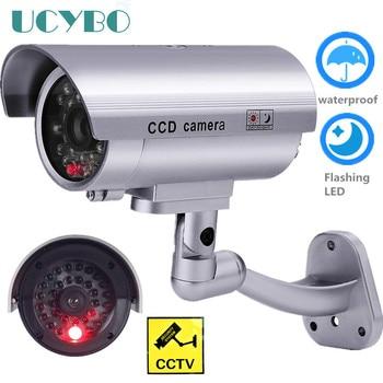 Cctv Camera Dummy Beveiliging Fake Camera W/Wifi Outdoor Knipperend Led Video Surveillance Dummy Cam