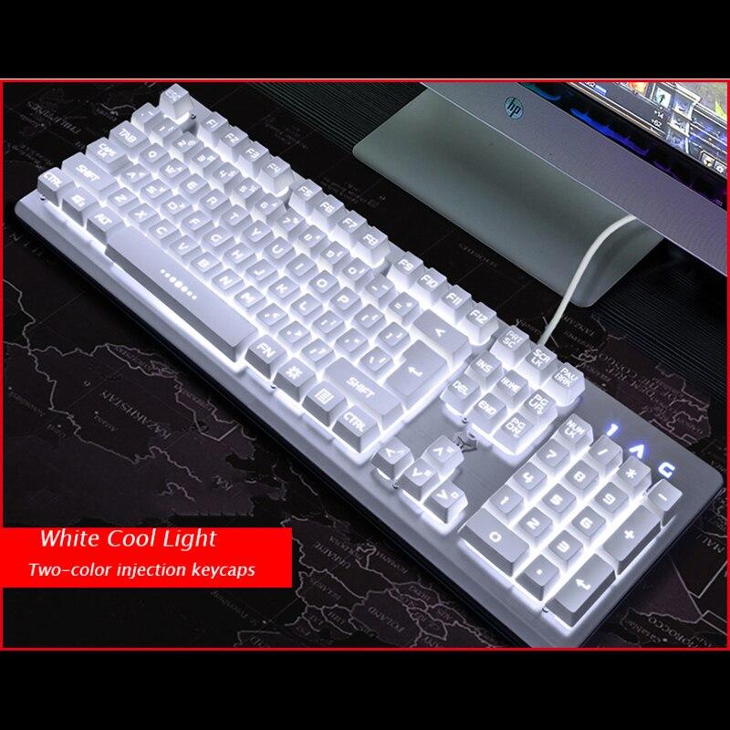 Clavier de jeu filaire clavier rétro-éclairé RGB sensation mécanique clavier de commande vocale intelligent PC Gamer Overwatch