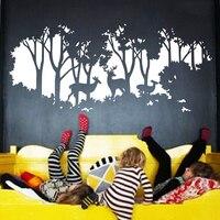 Jjrui الغزلان في الغابات الديكورات ستريت و الفن diy ديكور المنزل الجدار ملصق الفينيل كبير 21 لون