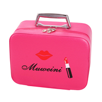 Mihawk Cosmetic Bags Women Fashion PU Portable Ladies Travel Necessary Cosmetic Cases Organizer Accessories Supplies Products