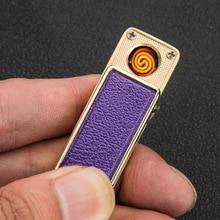 10pcs/lot 5 color select plasma lighter usb encendedor smoke cigarette tool windproof Lighter isqueiro gadgets for men with box