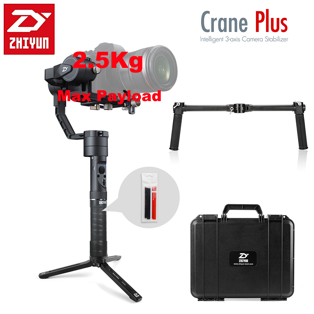 Zhiyun Crane Plus 3 Axis Handheld Gimbal Stabilizer 2500g Payload Long Exposure Time Lapse Motion Memory for Sony Dual Handheld yuneec q500 typhoon quadcopter handheld cgo steadygrip gimbal black