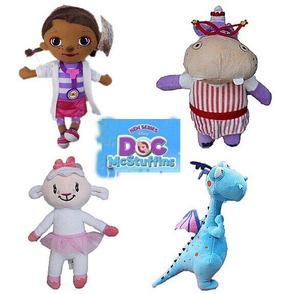 2016 Горячий Новый 28 см 4 шт./компл. Doc McStuffins Плюшевые игрушки Рождество подарок кукла ...