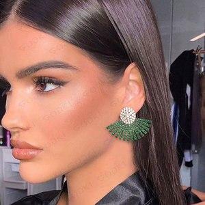Image 2 - GODKI 40MM Famous Luxury Popular Full Ealobe Stud Earring For Women Accessories Full Cubic Zircon Earrings pendientes mujer moda