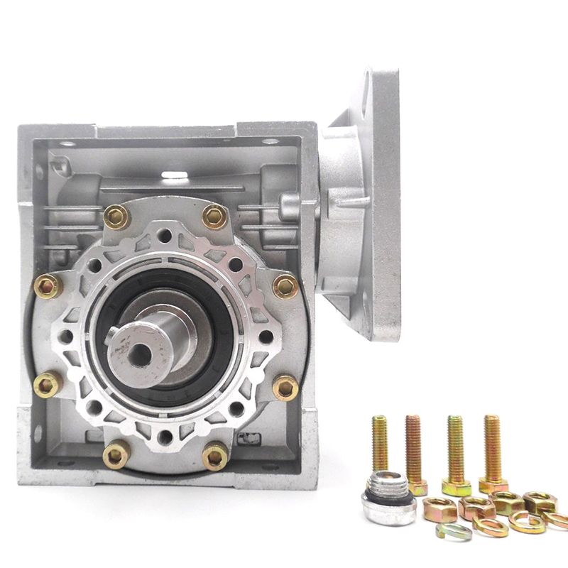 High Efficiency NMRV040 Worm Gear Reducer NEMA34 Speed Ratio 10 15 20 25 30 40 50 60 100:1 for Stepper Servo Motor