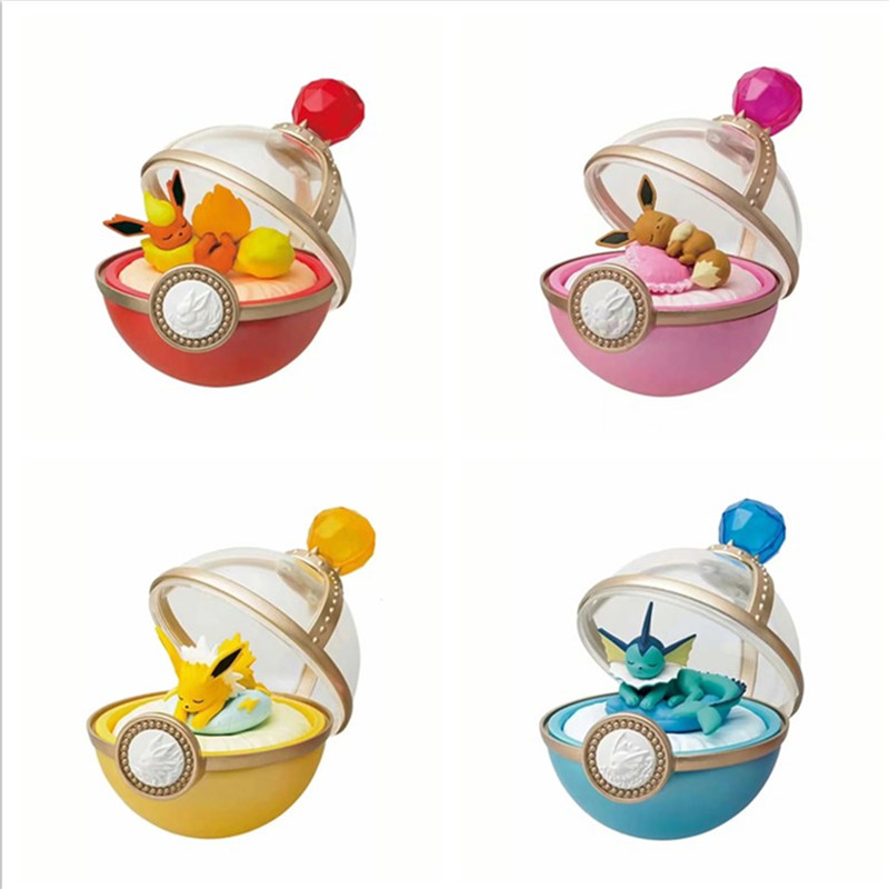 4pcs Set Anime Character Sleeping Eevee Family Super Ball Action Figure Toys Kids Gifts Pkm Lovely Decoration Kids Toy Buy At The Price Of 13 49 In Aliexpress Com Imall Com