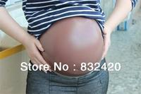 Free shipping black largest twins size fake pregnancy belly, silicone artificial belly for false pregnancy