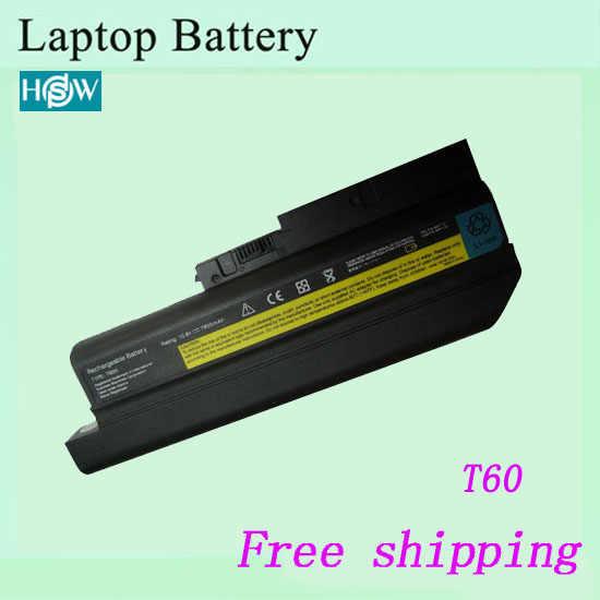 6600mah Laptop battery For IBM ThinkPad R60 R61 T60 T61 For LENOVO ThinkPad R500 R61 R61e R61i T500 T61 T61p W500
