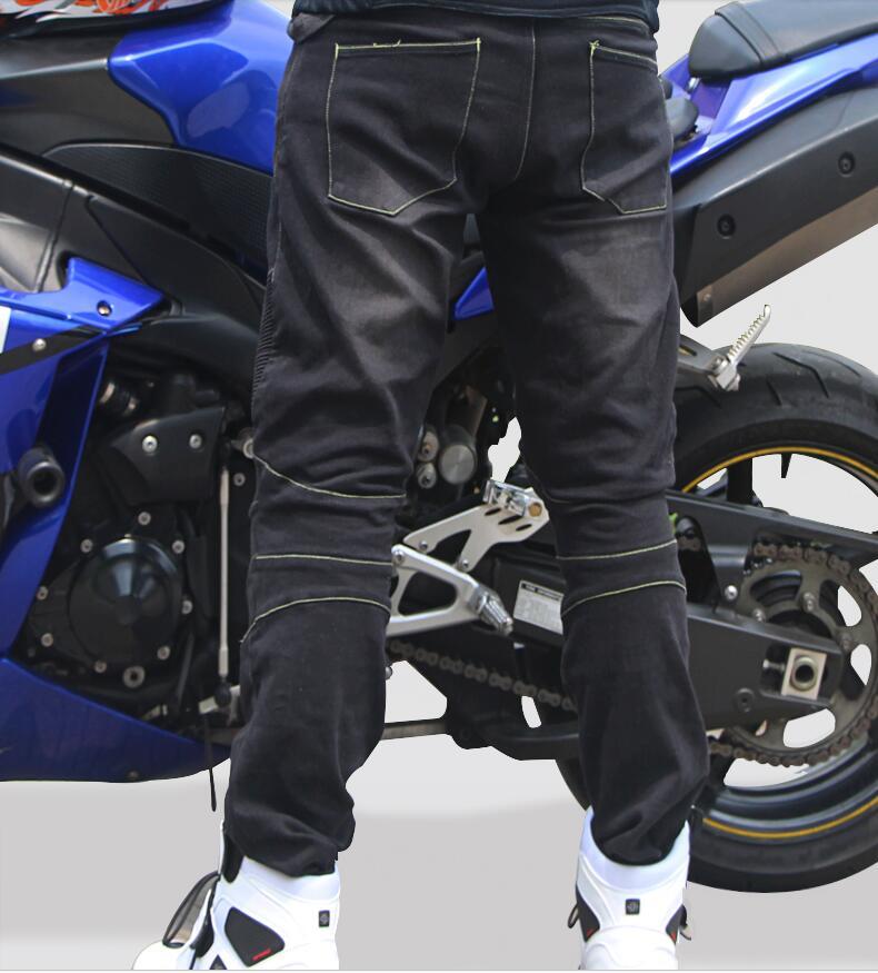 Tribe Tribe Motosiklet Şalvar kişi və qadın elastis jeans Racing - Motosiklet aksesuarları və ehtiyat hissələri - Fotoqrafiya 3